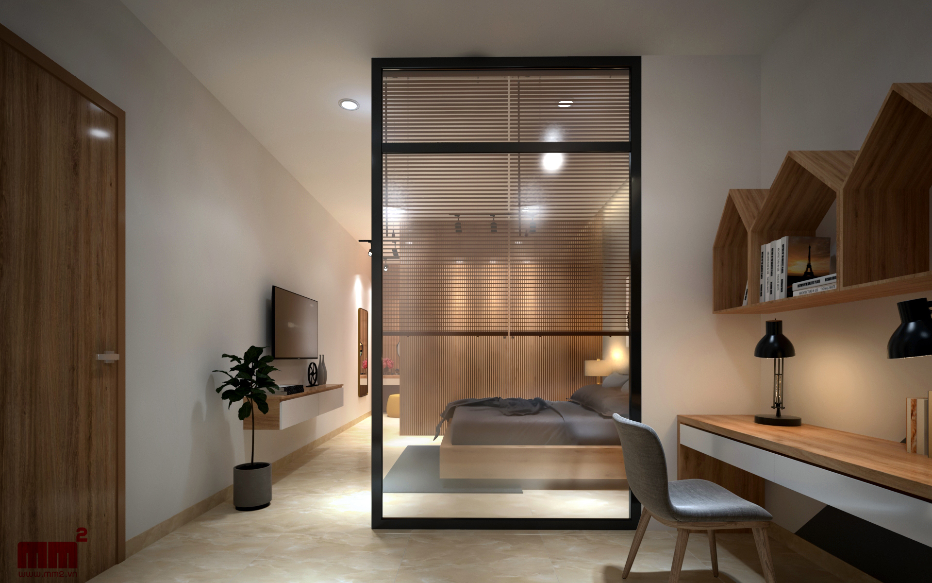 Thiết kế thi công nội thất phòng ngủ kiểu 2