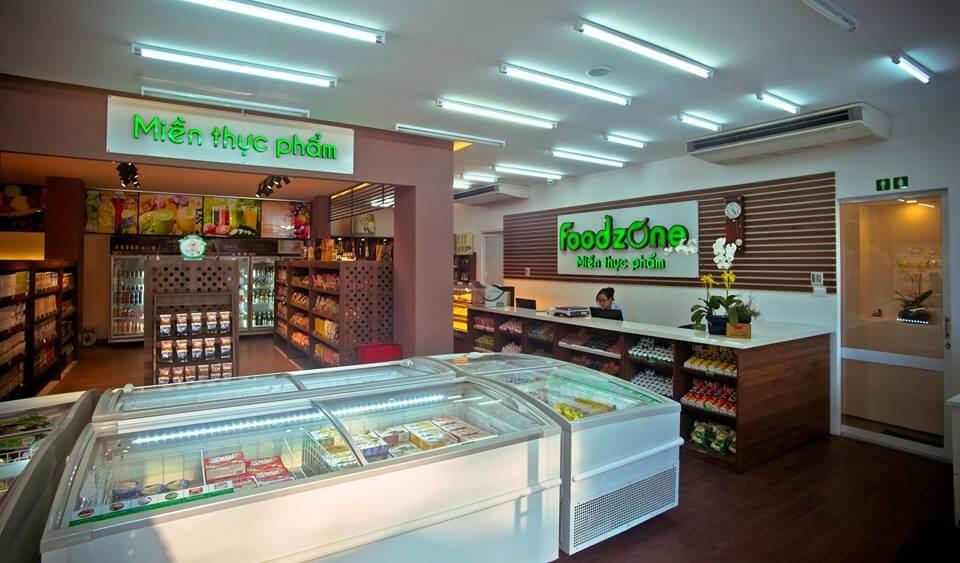 Thiết kế thi công nội thất siêu thị Foodzone