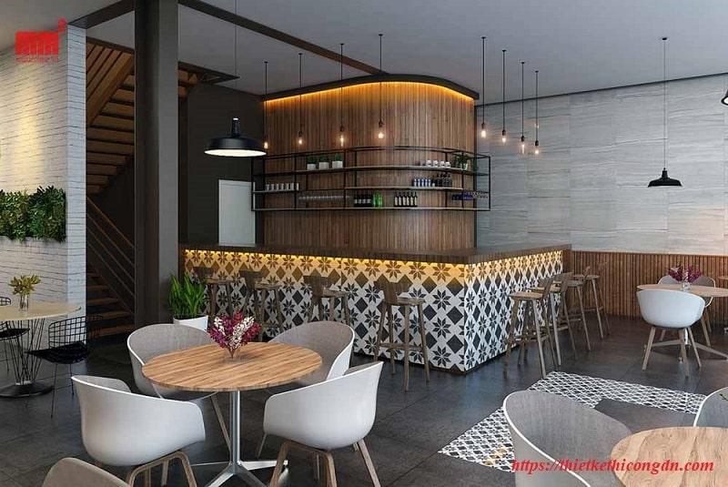 Mẫu thiết kế thi công quán cafe