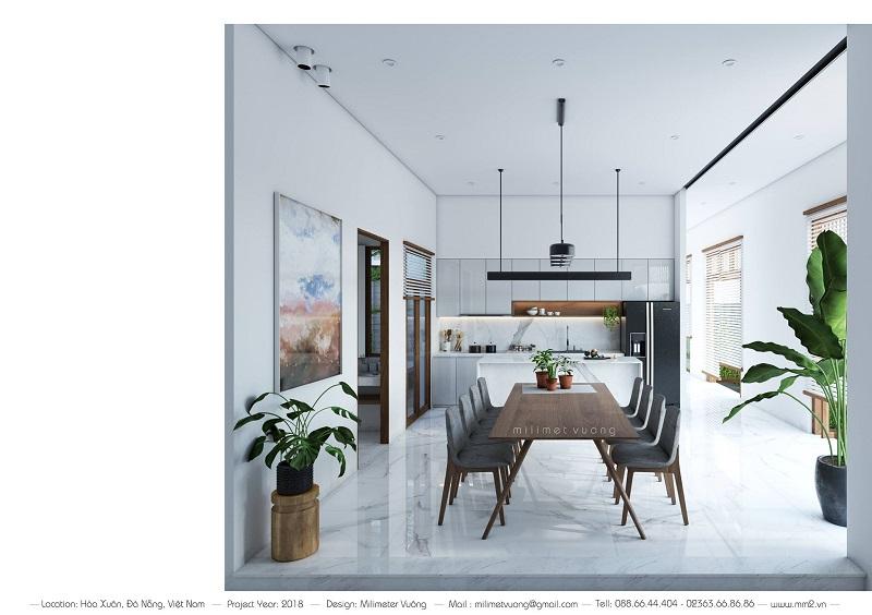 Thiết kế thi công nhà 1 tầng 2 mặt tiền Đà Nẵng