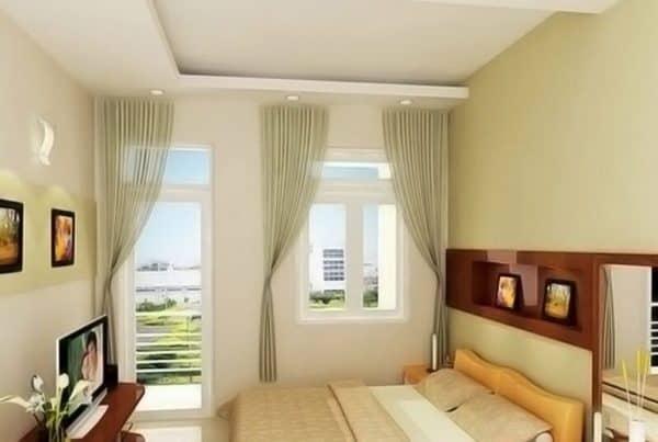Thiết kế phòng ngủ có 2 cửa ra vào theo phong thủy